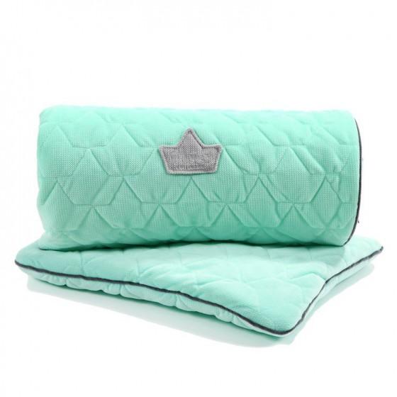 LA Millou SET Kilkenny blanket and pillow MID MINT VELVET PILLOW COLLECTION