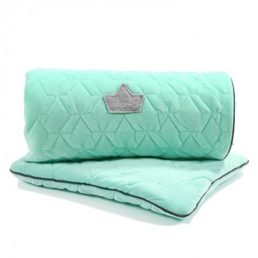 LA Millou SET Kilkenny blanket and pillow MID MINT VELVET PILLOW COLLECTION