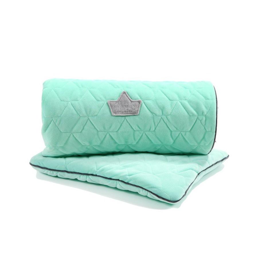 LA Millou SET Kilkenny blanket and pillow MID MINT VELVET