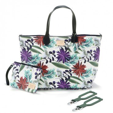 La Millou FEERIA - MEDIUM BAG WITH A CLUTCH - BOTANIC GARDEN BRIGHT - PREMIUM