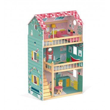 Janod Dollhouse XL with 12 accessories Happy Day