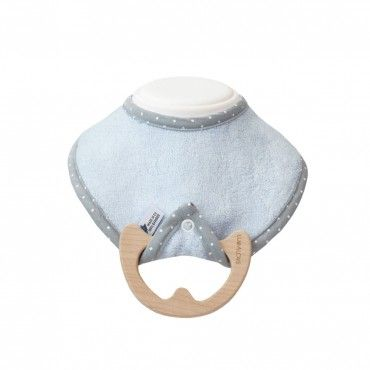 LULLALOVE bib SUPERRO ECO BABY WITH BLUE maple chews