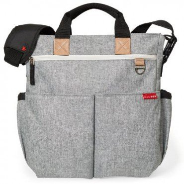 Skip Hop Duo Signature Bag Gray Melange
