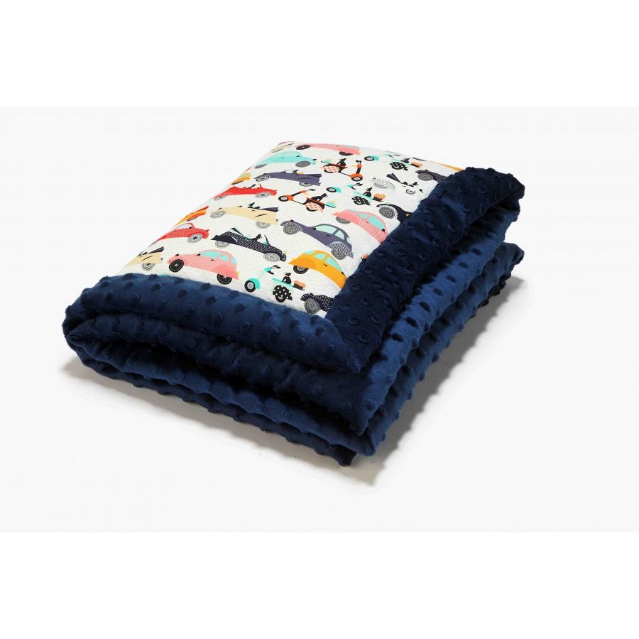 LA LA baby blanket Millou MOBILE - NAVY
