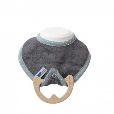 LULLALOVE bib SUPERRO BABY ECO chews the Maple GRAY