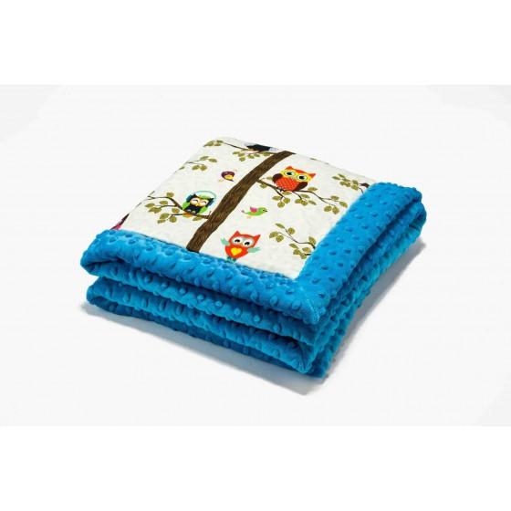 La Millou by Anna Mucha Infant Blanket Owls Bird Radio Turquoise