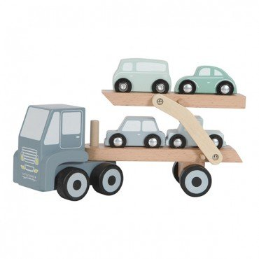 LITTLE DUTCH WOODEN LAWETA with toy cars