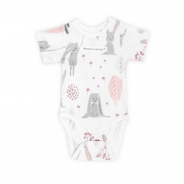 ColorStories - Body niemowlęce Shortsleeve - Bunny - 74 cm