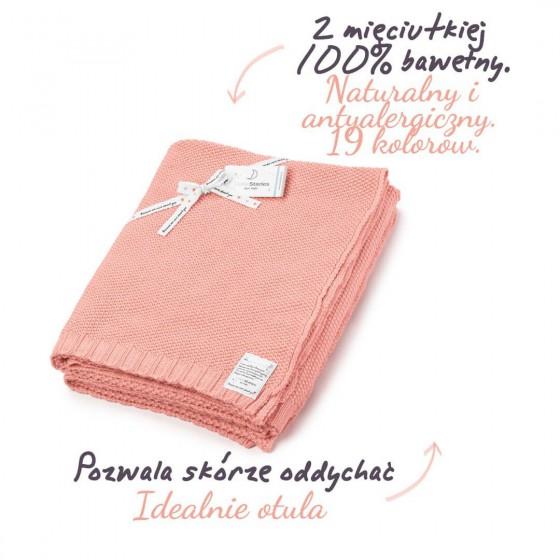 ColorStories - Kocyk CottonClassic L - morela