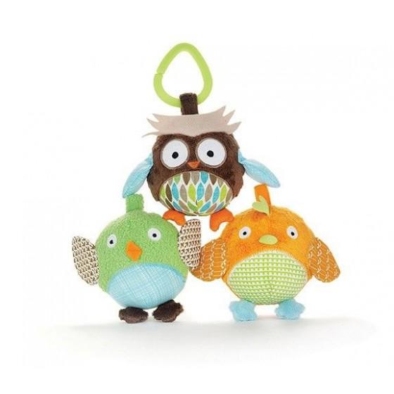 Skip Hop Treetop Friends Toy Ball Trio