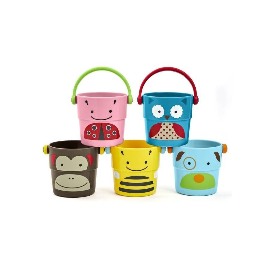 Skip Hop Zoo buckets to water