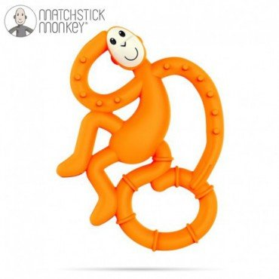 Matchstick Mini Monkey Orange Gryzak Masujacy