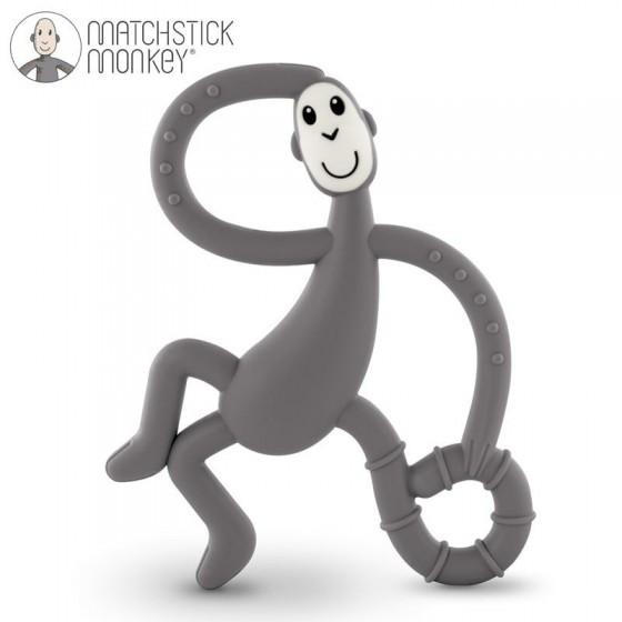 Matchstick Monkey Dancing Grey Terapeutyczny Gryzak Masujacy ze Szczoteczka