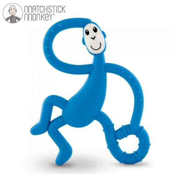 Matchstick Monkey Dancing Blue Terapeutyczny Gryzak Masujacy ze Szczoteczka