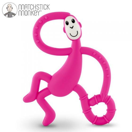 Matchstick Monkey Dancing Pink Terapeutyczny Gryzak Masujacy ze Szczoteczka
