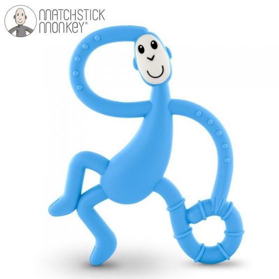 Matchstick Monkey Dancing Light Blue Terapeutyczny Gryzak Masujacy ze Szczoteczka
