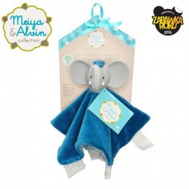 Meiya & Alvin - Alvin Elephant Snuggly Comforter with Organic Teether Head