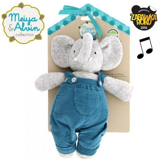 Meiya & Alvin - Alvin Elephant Musical Lulluby Doll with Soft Head