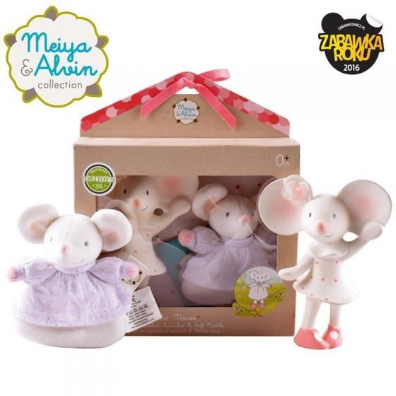 Meiya & Alvin - Meiya Mouse Organic Rubber Babyshower Set
