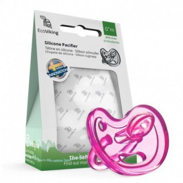 Eco Viking Anatomical soother SiliMed Pink age 0m +