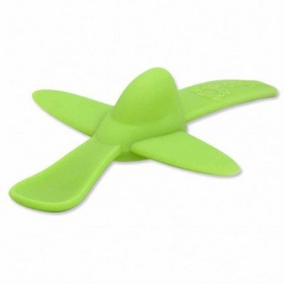 oogaa Green Plane silikonowa lyzeczka do karmienia