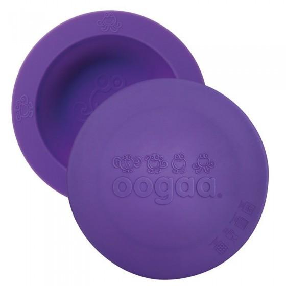 oogaa Purple Bowl & Lid silikonowa miseczka z pokrywka