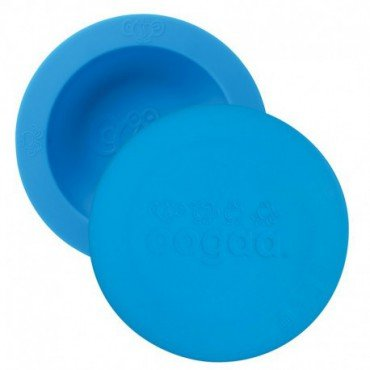 Ooga Blue Bowl & Lid silicone bowl with lid