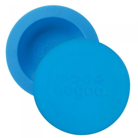 oogaa Blue Bowl & Lid silikonowa miseczka z pokrywka