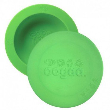 Ooga Green Bowl & Lid silicone bowl with lid