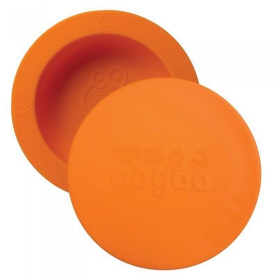 oogaa Orange Bowl & Lid silikonowa miseczka z pokrywka