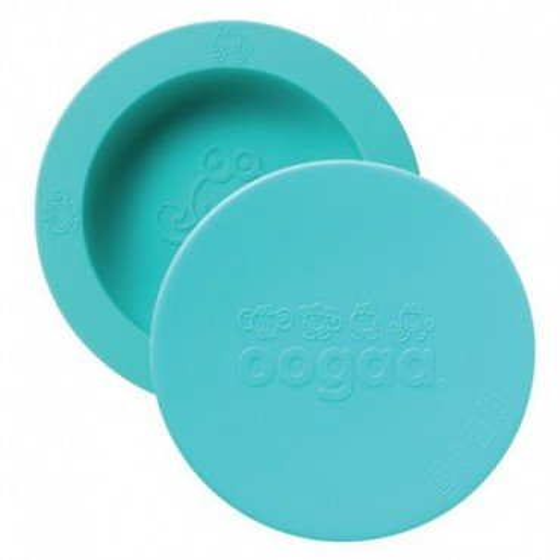 oogaa Jewel Blue Bowl & Lid silikonowa miseczka z pokrywka