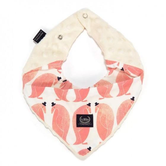 LA Millou very soft scarf PEPE PENGUIN ECRU