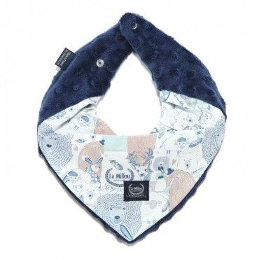 LA LA Millou very soft scarf Millou NAVY FAMILY