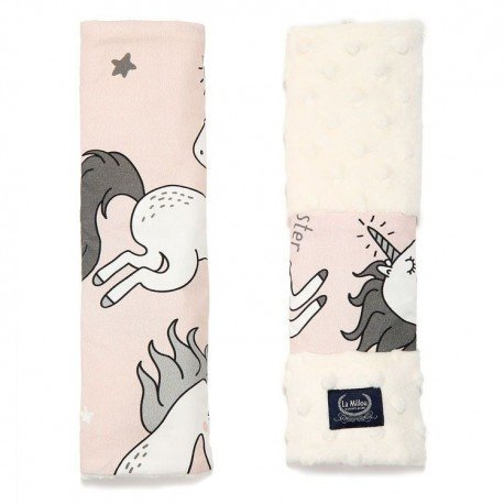 BY MAJA BOHOSIEWICZ - SEATBELT COVER - UNICORN SUGAR BEBE - ECRU