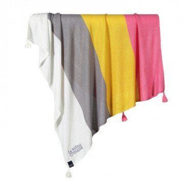 LA MILLOU BAMBOO TENDER BLANKET HONEY RAINBOW KISS