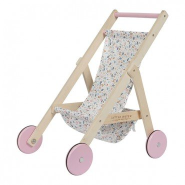 LITTLE DUTCH WOODEN doll prams SPRING FLOWERS