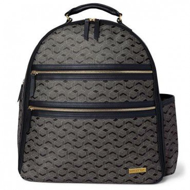 Skip Hop Backpack Deco Saffiano Interweaved Lines
