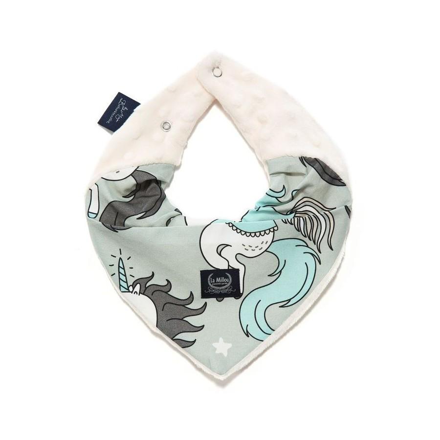 LA Millou scarf BY MAY Bohosiewicz UNICORN RAINBOW KNIGHT ECRU