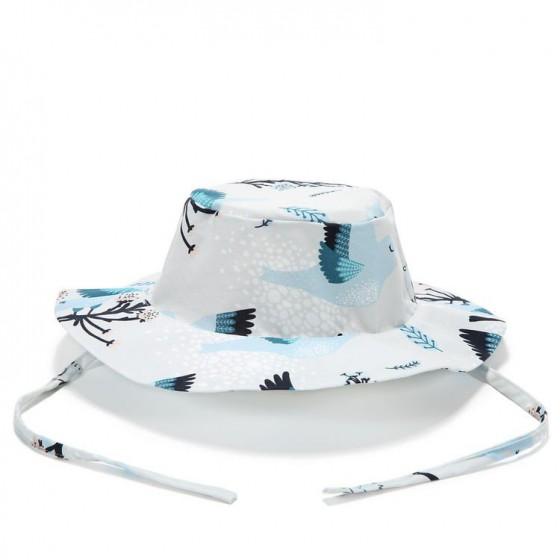 LA MILLOU KAPELUSZ SAFARI HAT BLUE BIRDS VIVID
