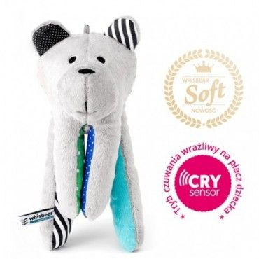 WHISBEAR humming SOFT BEAR WITH TURQUOISE CRYSENSOR