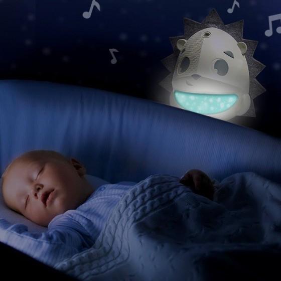 Tiny Love Projektor/Pozytywka/Lampka z sensorem płaczu - Jeż