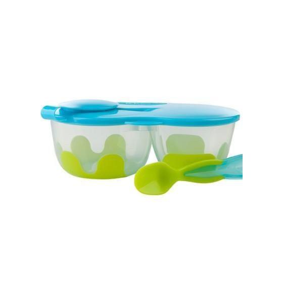 b.box Podwójny pojemnik na żywność b.box zielono-niebieski