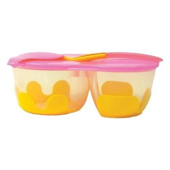 b.box Podwójny pojemnik na żywność b.box pomarańczowo-różowy
