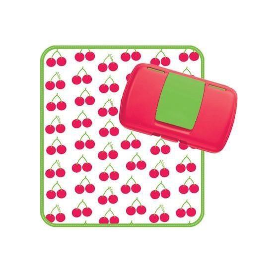b.box Przewijak w etui z miejscem na pieluchy i chusteczki b.box Cherry Delight