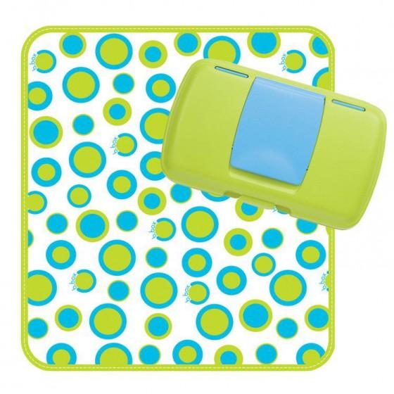 b.box Przewijak w etui z miejscem na pieluchy i chusteczki b.box Retro Circles