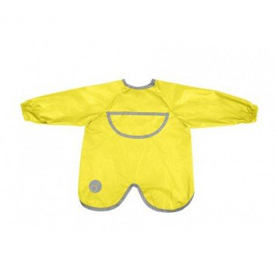 b.box waterproof apron-bib with sleeves lemon sherbert