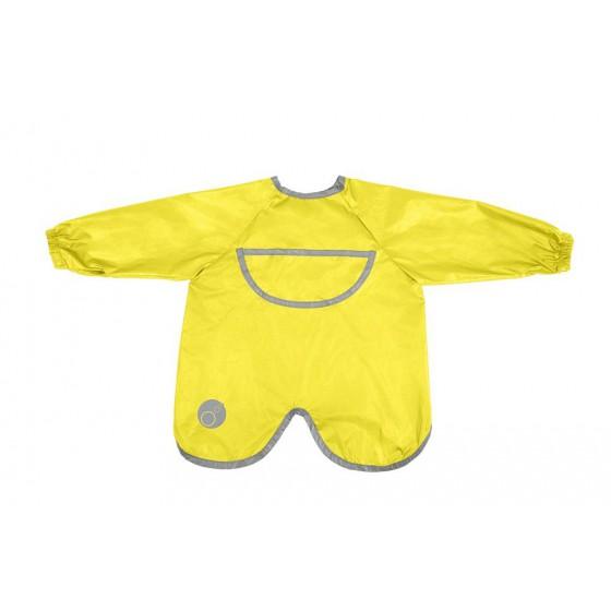 b.box Wodoodporny fartuszek-śliniaczek z rękawami lemon sherbert