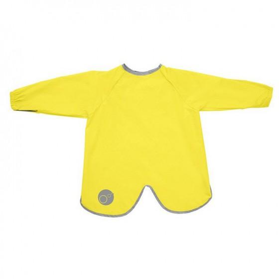 b.box Large waterproof apron-bib with sleeves lemon sherbert
