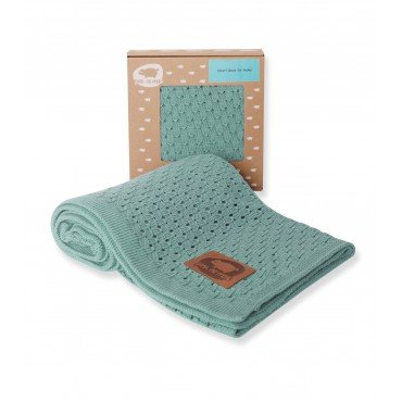 PINK NO MORE blanket OPENWORK MINT