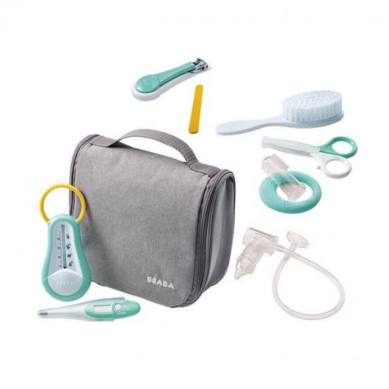 Beaba Kosmetyczka z 9 akcesoriami do pielęgnacji niemowląt szary